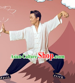 Traditional Chinese Taoist Uniform Complete Set for Men
