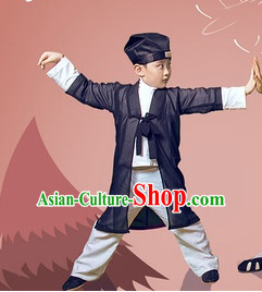 Traditional Chinese Taoist Uniform Complete Set for Kids