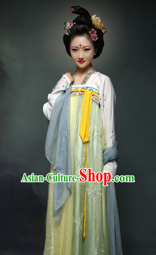 Ancient Chinese Tang Dynasty Ruqun Suit Complete Set for Girls