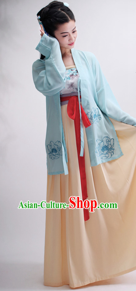 Ancient Chinese Hanfu Suit Complete Set for Women