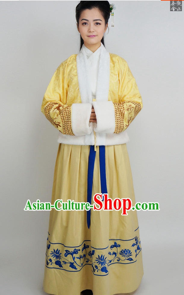Ancient Chinese Traditional Hanfu Dresses Complete Set for Women