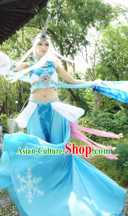 Sexy Chinese Fairy Halloween Costumes and Hair Jewelry Complete Set for Women