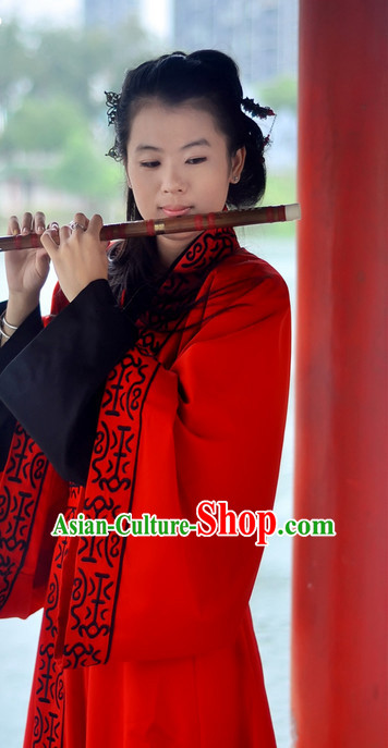 Chinese Traditional Red Bridal Suit and Hair Accessories Complete Set for Women