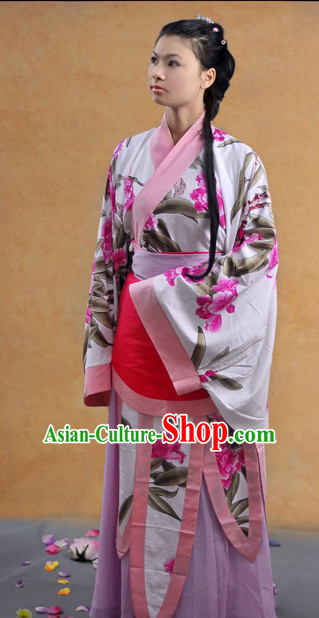 China Ancient Hanfu Cultural Garment Robe for Women