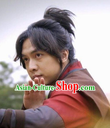 Ancient Korean Swordsmann Black Long Wigs