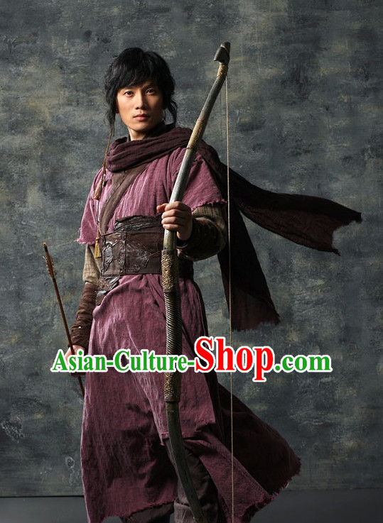 Ancient Korean Archer Costume and Arch Bow Complete Set