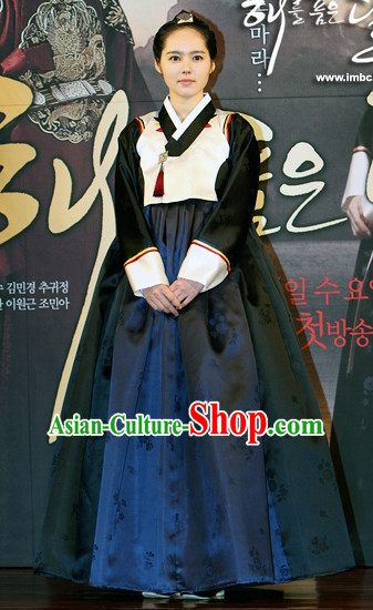 Ancient Korean Mysterious Lady Hanbok Costumes