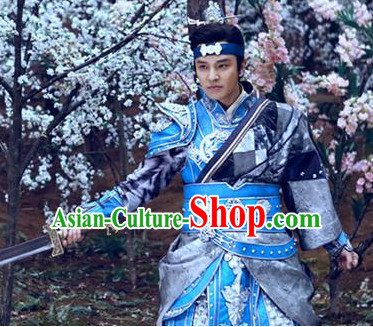 Ancient Korean Princess Fighting Armor Costume and Headpieces Complete Set