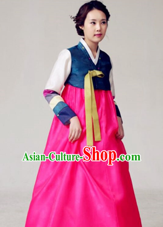 Hand Made Korean Fashion Hanbok and Hair Accessories Complete Set for Ladies