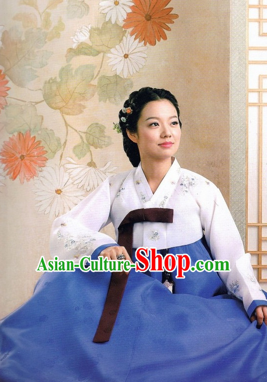 Handmade Plus Size Korean Traditional Clothing Hanbok for Ladies