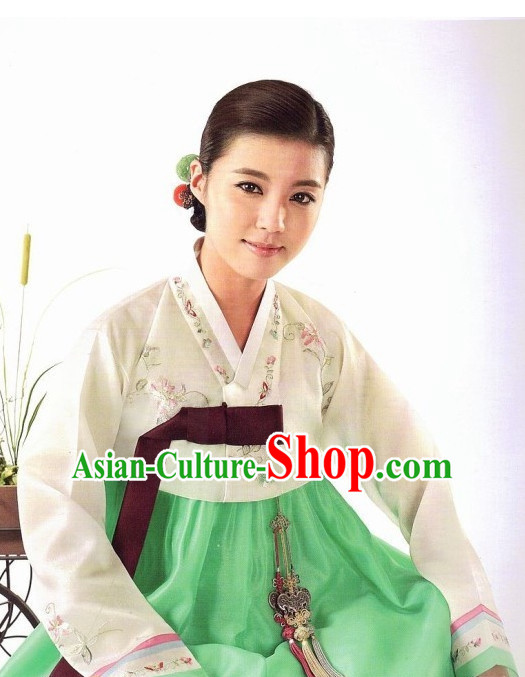 Korean Classic Hanbok Top and Skirt Complete Set for Women