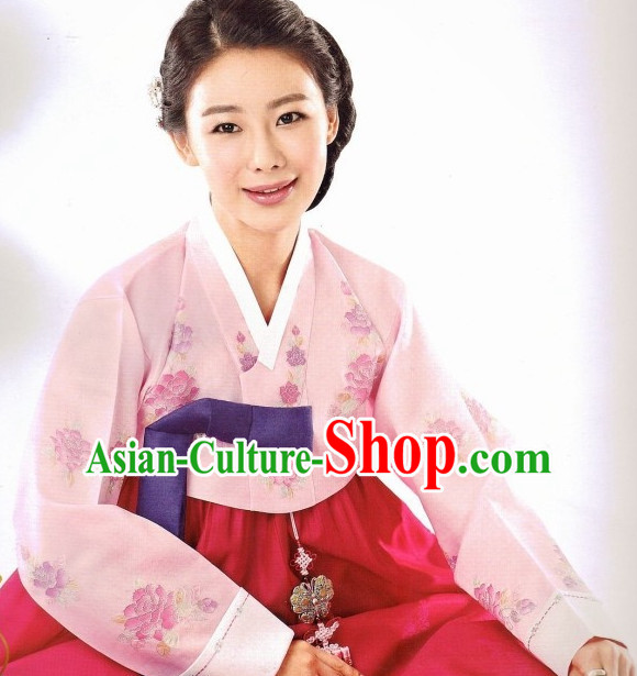 Korean Fashion Formal Hanbok Top and Skirt Complete Set for Women