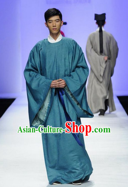 Ancient Asian Long Robe for Men