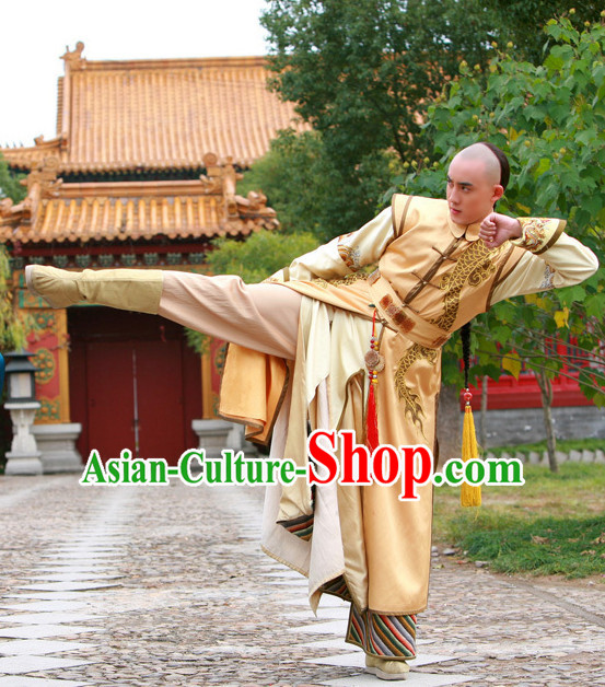 Qing Palace Prince Long Robes Clothing Complete Set