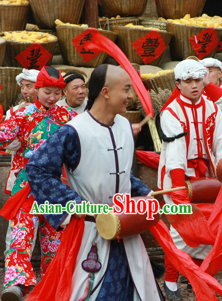 Classic Ancient Waist Drum Costumes for Men