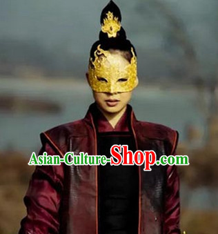 Ancient Mysterious Handmade Gold Masks