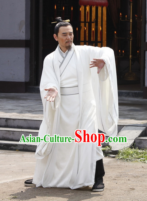 White Taoist Clothes for Men