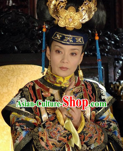 Qing Queen Dresses and Headwear