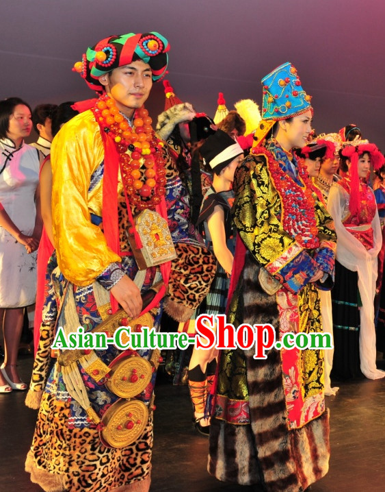 Mongolian Emperor and Empress Clothing 2 Sets