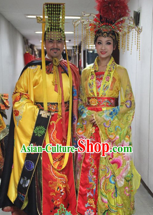 Emperor and Empress Clothing and Headwears 2 Sets