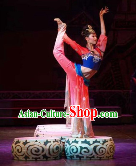 Chinese Classic Dance Costume and Headpieces Complete Set