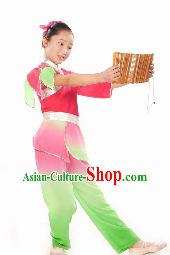 Ancient Student Dance Costume and Headdress Complete Set for Children