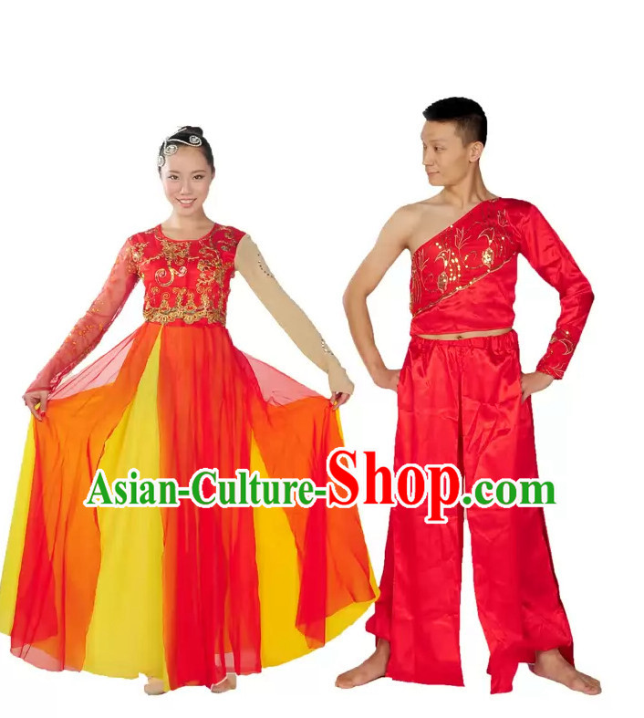 China Folk Dance Wear and Headdpieces for Women