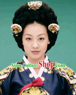 Ancient Korean Palace Empress Hair Accessories and Wigs