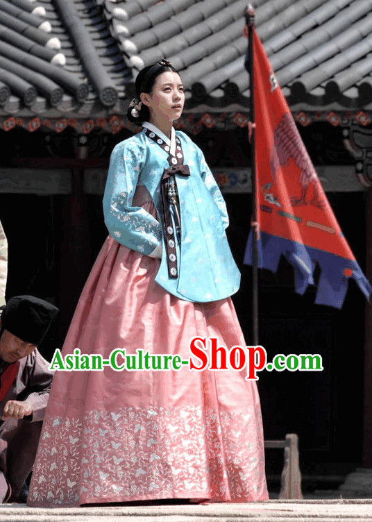 Ancient Korean Princess Hanbok Clothes for Women