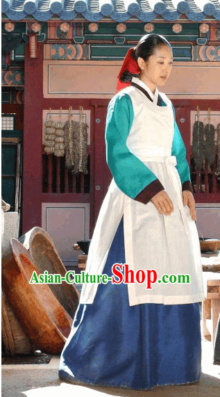 Ancient Korean Palace Cooker Costume for Women