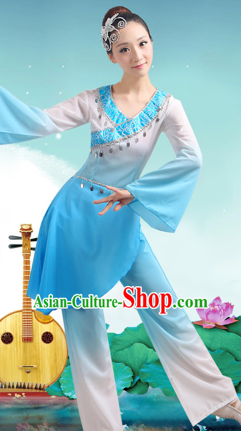 Chinese Classicial Fan Dancing Uniform for Women