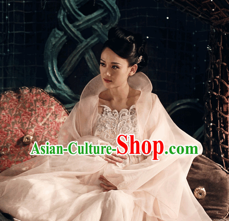 Top Chinese Princess High Collar Cosplay Halloween Costumes Complete Set for Women