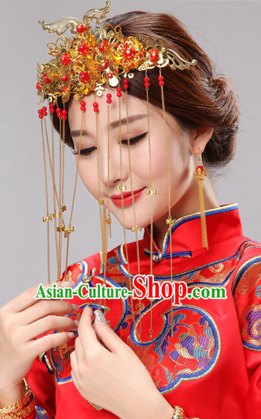 Traditional Chinese Bridal Wedding Hair Jewelry