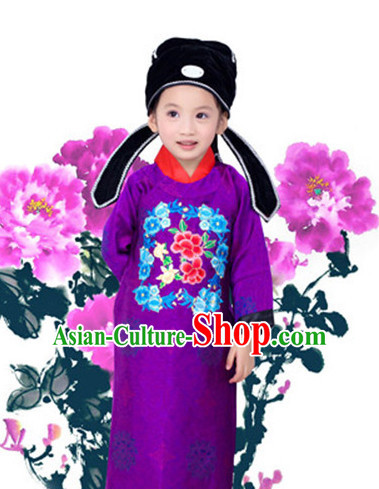 Tang Dynasty Clothing and Hat for Kids
