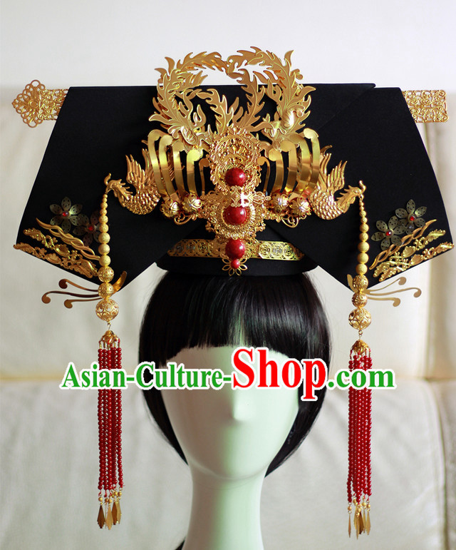 China Qing Manchu Princess Phoenix Hat Qi Tou