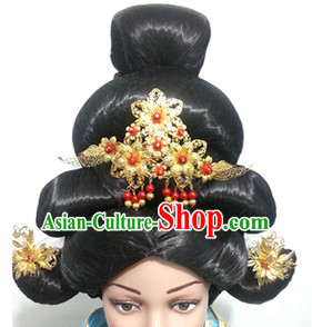 Chinese Classic Wigs Hair Extensions Lace Front Wig Hair Pieces for Women