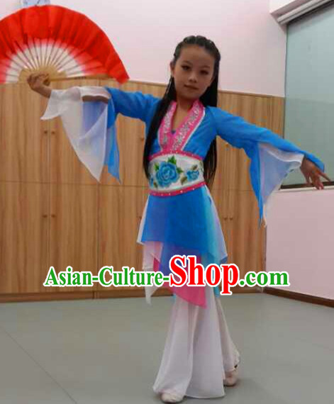 Chinese Quality Classic Dance Costume and Headwear Complete Set for Kids