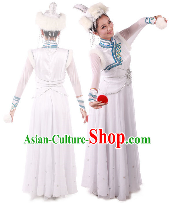Chinese Mongolian Dance Costume for Competition