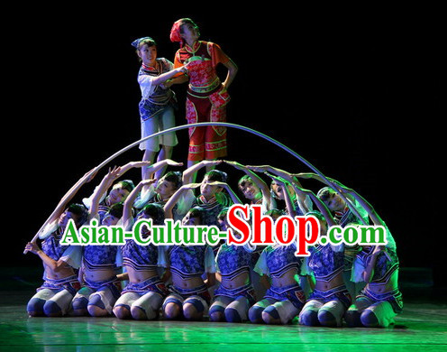Chinese Kids Folk Tibetan Dance Costumes for Competition