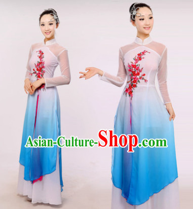 Chinese Fan Dance Costumes Dancewear Discount Dane Supply Clubwear Dance Wear China Wholesale Dance Clothes for Girls