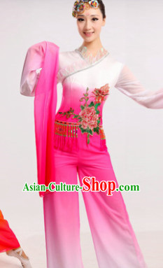 Chinese Ribbon Dance Costume Dancewear Discount Dane Supply Clubwear Dance Wear China Wholesale Dance Clothes for Women