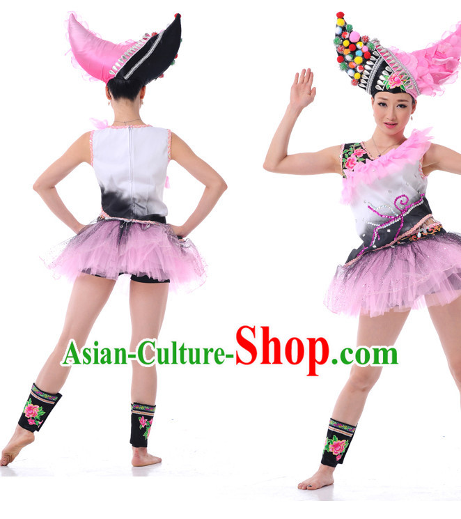 Chinese Girls Folk Dance Costumes Dancewear Discount Dane Supply Clubwear Dance Wear China Wholesale Dance Clothes
