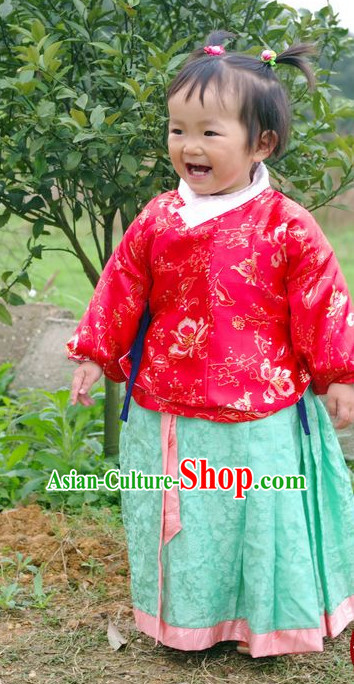 Chinese Kids Hanfu Costume Ancient Costume Traditional Clothing Traditiional Dress Clothing online