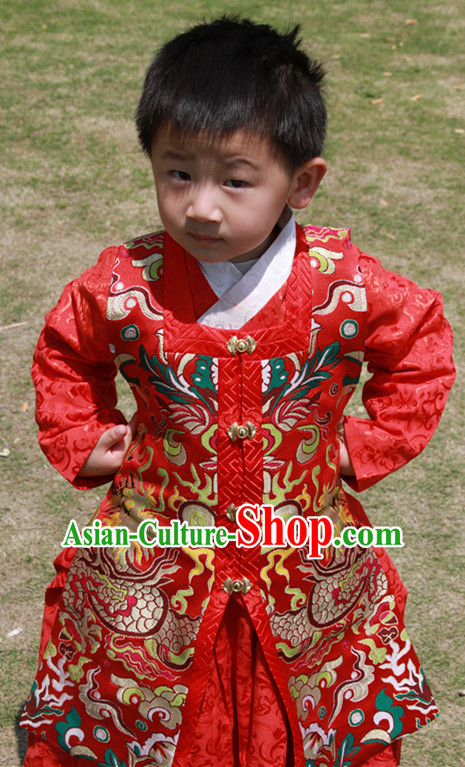 Chinese Ancient Ming Dynasty Clothing Outfits for Boys Kids