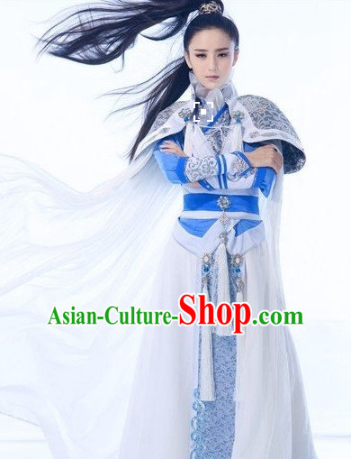 Chinese Superhero Halloween Costumes and Headpieces Complete Set