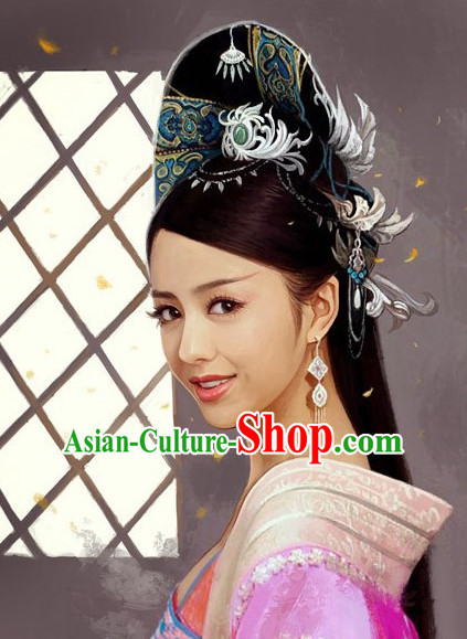 Zhao Feiyan Ancient Chinese Black Wigs and Hair Jewelry Set