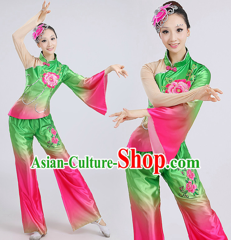 Chinese Folk Dance Costumes Costume Discount Dance Costume Gymnastic Leotard Dancewear Chinese Dress Dance Wear