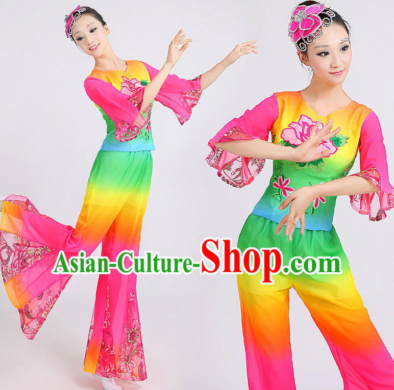 Chinese Classical Dance Costumes Group Dancing Costume Discount Dance Costume Gymnastic Leotard Dancewear China Dress Dance Wear