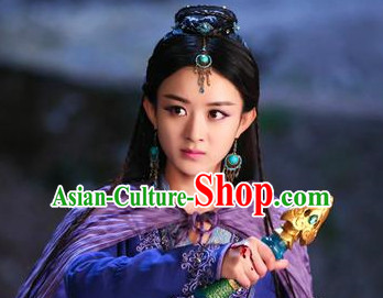 Ancient Chinese Swordswoman Black Wigs