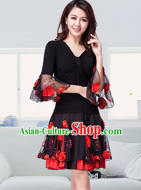 China Style Modern Dance Costume Ideas Dancewear Supply Dance Wear Dance Clothes Suit